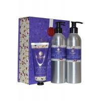 Bath and Body Care Trio Shower Creme, Body Lotion, Hand Cream Anne Hathaway's Cottage Garden