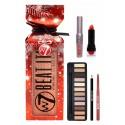 The Big Bang Set-Beat it Eyeshadows Lipstick,Eye & Lip Pencil, Mascara W7 Cosmetics