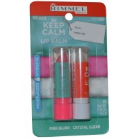 Lip Balm Duo Pack 3.7g Pink Blush and 3.7g Crystal Clear Keep Calm and Lip Balm