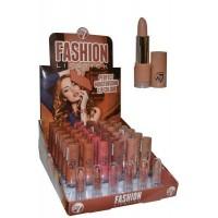 Fashion Lipstick Moisturise Lip Colour Display 6 x 6 Shades (36 Units) W7 Cosmetics