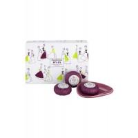 Luxury Guest Soap Collection 3 x 50g plus Soap Dish Sanderson Fifi