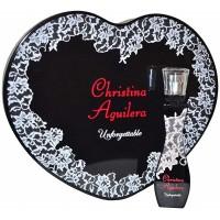 Eau de Parfum Femme Unforgettable 30 ml & Boîte en Coeur Noir Christina Aguilera