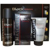 Coffret Homme Black Premium Eau de Toilette 100ml Déodorant 200ml Gel Douche 150ml Bourjois