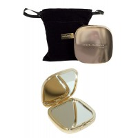Pocket Compact Mirror in black purse D & G