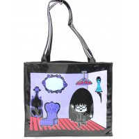 Sac Shopping Violet & Noir Anna Sui ≡ GROSSISTE MAQUILLAGE
