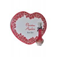 Parfum Red Sin & Boîte Coeur Christina Aguilera ≡ GROSSISTE-MAQUILLAGE
