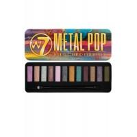 Eye Colour Palette Metallic Shimmers 12 Shades Metal Pop Soft W7 Cosmetics